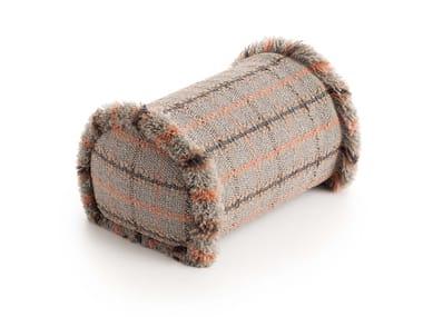 Roll tartan outdoor polypropylene cushion GARDEN LAYERS TERRACOTTA | Roll cushion
