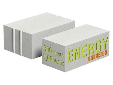 Blocco isolante in cls cellulare per tamponamenti esterni GASBETON® ENERGY