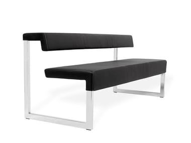 Modular leather bench seating with back GATE | Bench seating