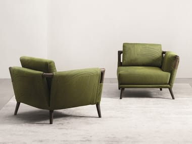 Fabric armchair with removable cover GAUDÍ | Armchair