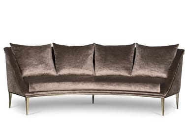 Curved velvet sofa GEISHA | Sofa