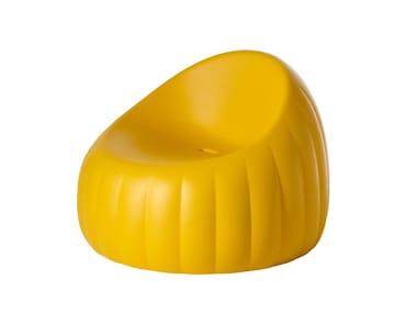 Polyurethane armchair GELÉE LOUNGE
