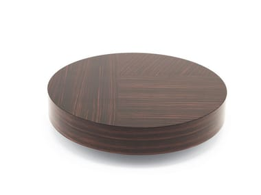 Low round ebony coffee table GEMINI