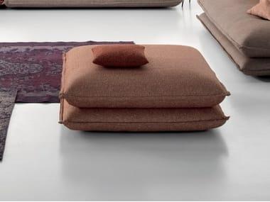 Pouf rembourré carré en tissu GEMINI | Pouf