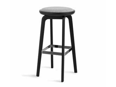 High wooden stool with footrest GENEA HIGHSTOOL