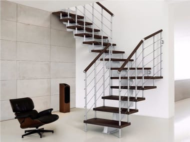 Stainless steel Open staircase GENIUS 010 | Open staircase