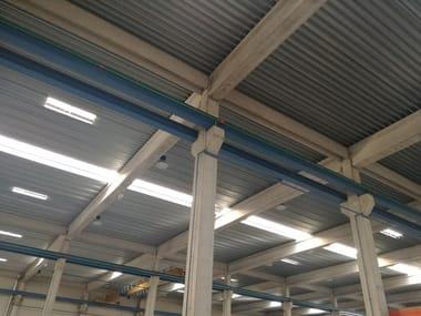 Corrugated and undulated sheet steel GENUS 55 SECCO