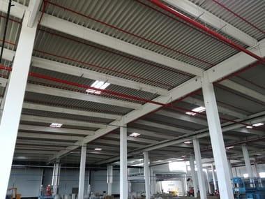 Corrugated and undulated sheet steel GENUS 73 SECCO