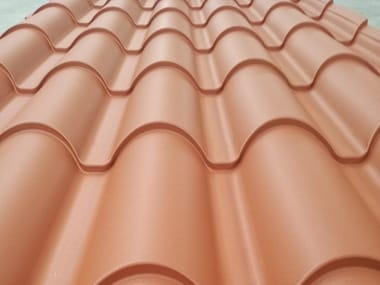 Metal sheet and panel for roof GENUS COPPO