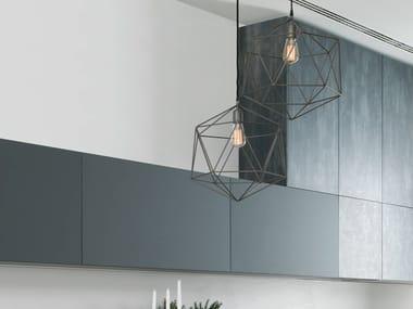 Lampada a sospensione a luce diretta in metallo GEO