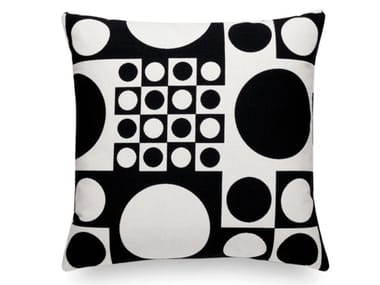 Cuscino quadrato in tessuto a motivi geometrici GEOMETRI BLACK/WHITE