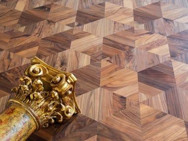 Walnut wall/floor tiles GEOMETRIE VARIABILI