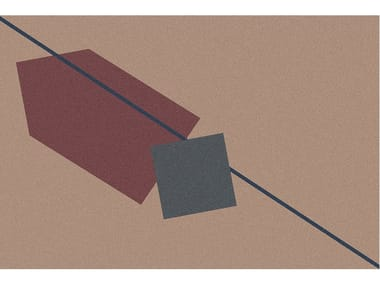 Tappeto per bagno a motivi geometrici GEOMETRIE VOLANTI | Tappeto per bagno rettangolare