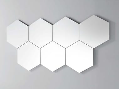 Wall-mounted mirror GEOMETRIKA ESAGONALE