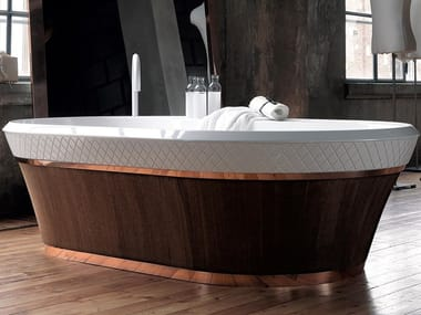 Freestanding Ceramilux® bathtub GEORGE   Bathtub