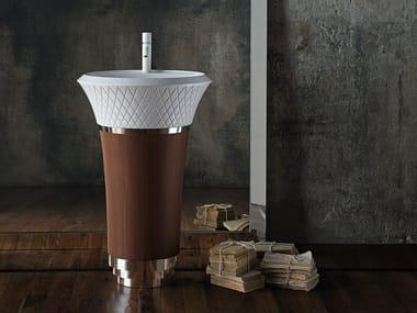 Freestanding round Ceramilux® washbasin GEORGE | Ceramilux® washbasin