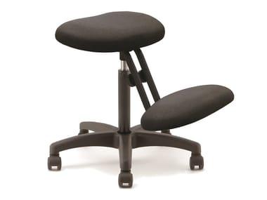 Ergonomic office stool with 5-Spoke base with castors GEORGE | Ergonomic office stool