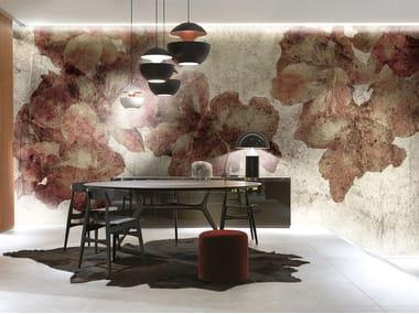 Papel de parede de tecido estilo moderno GERANI