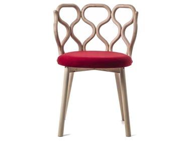 Open back ash chair GERLA