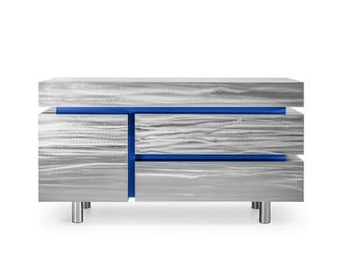 Sideboard aus Edelstahl mit Schubladen GERRIT CS1