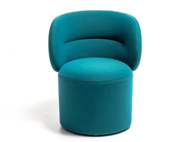Upholstered fabric easy chair with armrests GETLUCKY
