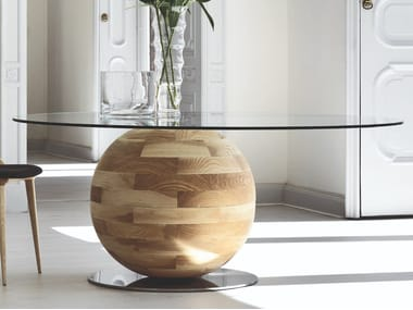 Round crystal table GHEO OFF