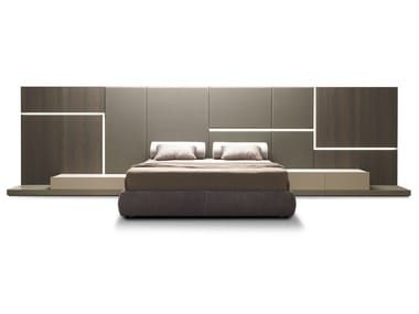 Upholstered double bed GHIROLETTO