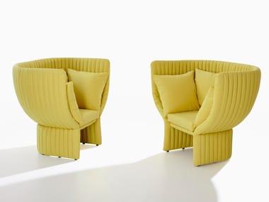 Armchair with armrests GHISOLFA | Armchair