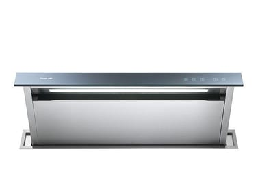Glass and Stainless Steel downdraft with integrated lighting GHOST 90