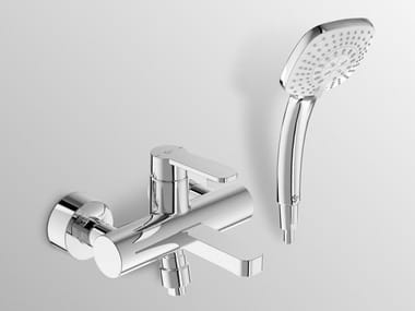 Wall-mounted single handle bathtub mixer with temperature limiter GIÒ - B0622
