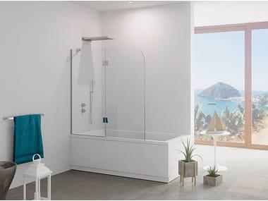 Crystal bathtub wall panel GIGLIO