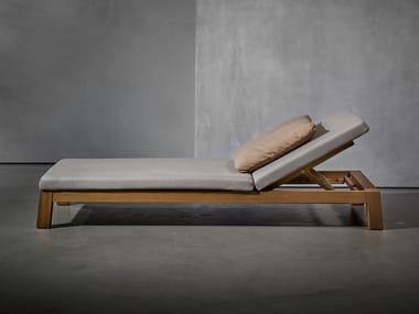 Espreguiçadeira de jardim reclinável GIJS | Espreguiçadeira de jardim reclinável