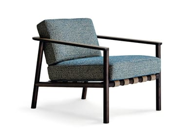 Ergonomic fabric armchair with armrests GILLIS