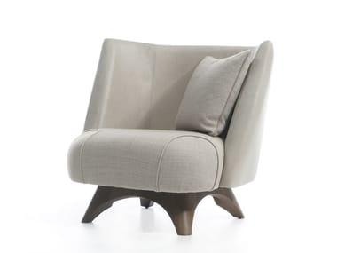 Fabric armchair GINA