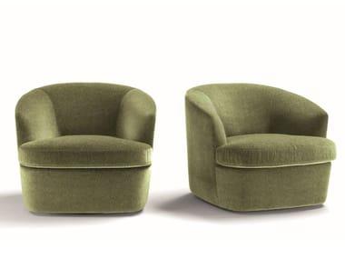 Fabric armchair with armrests GINEVRA | Armchair
