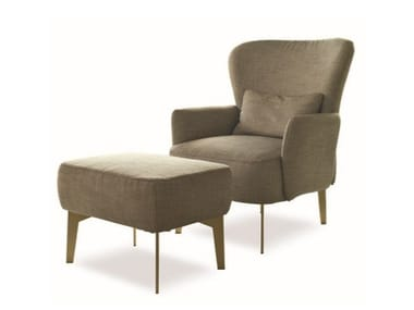 Armchair with footstool GINEVRA