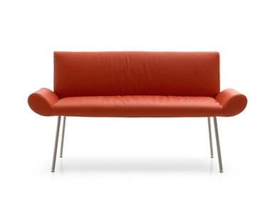 Leather small sofa GINEVRA | Small sofa