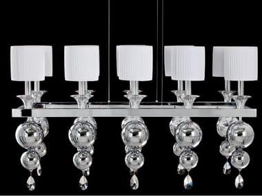 Lampada a sospensione a luce indiretta con cristalli GINEVRA   Lampada a sospensione con cristalli