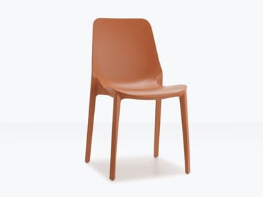 Stackable technopolymer chair GINEVRA | Stackable chair