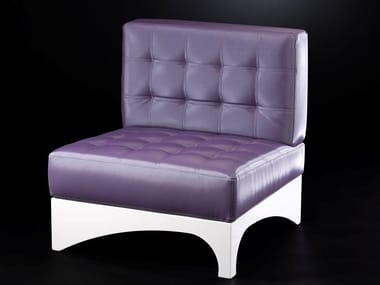 Tufted leather easy chair GINEVRA | Easy chair