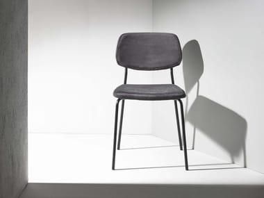 Upholstered velvet chair GINGER