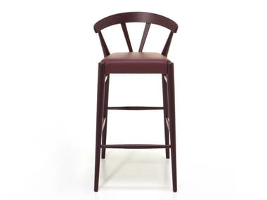 High ash stool with footrest GINGER   Stool