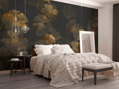 Nonwoven wallpaper with floral pattern GINKO