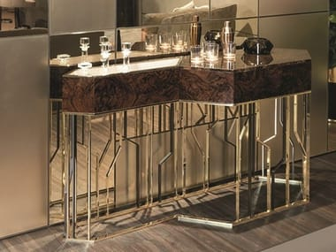 Wooden console table with drawers GINZA EVO | Console table