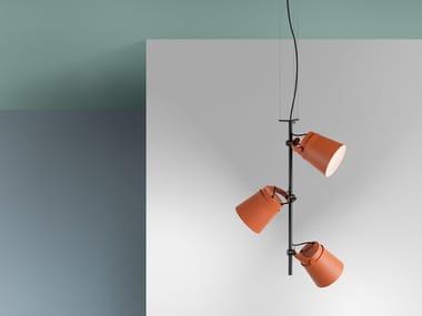 LED aluminium pendant lamp GINZA - VERTICAL