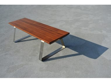 Backless wooden Bench GIO