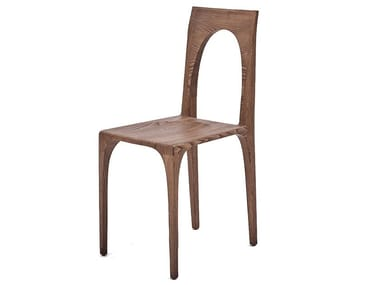 Open back solid wood chair GIO