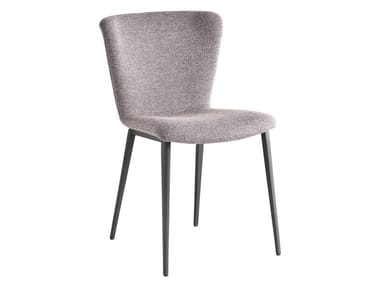Upholstered fabric chair GIO'