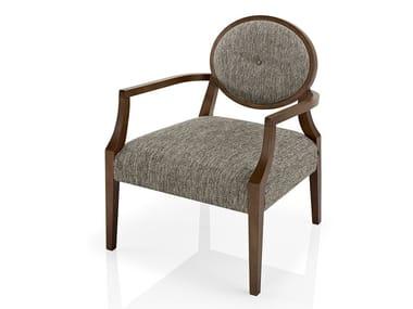 Cadeira lounge de tecido com braços GIOCONDA   Cadeira lounge