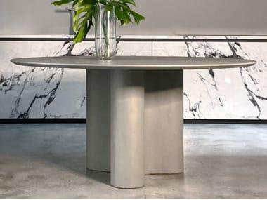 Tavolo da pranzo rotondo in cemento GIORGIA   Tavolo in cemento